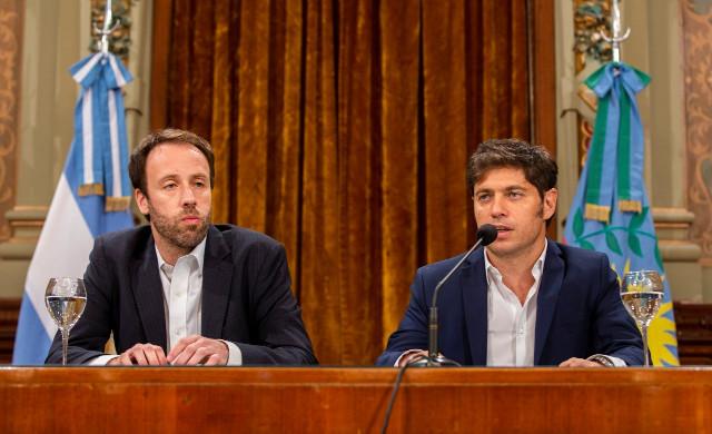 Pablo López y Axel Kicillof