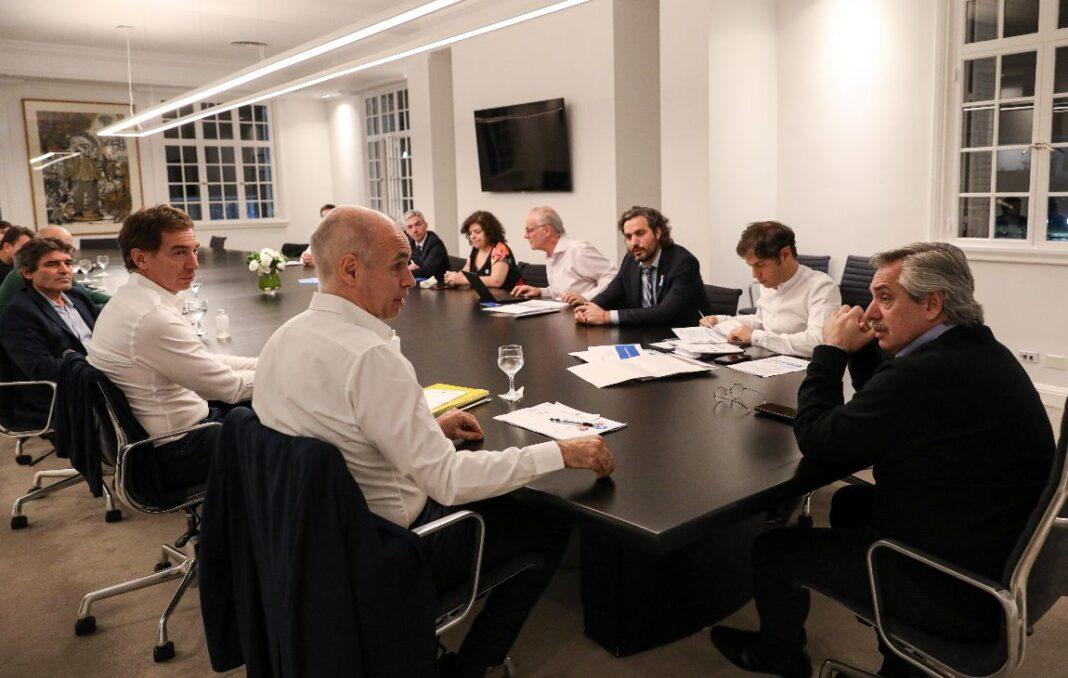 Alberto Fernández se reunió con Kicillof y Larreta