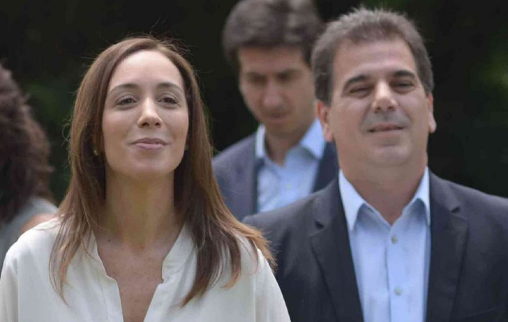 Maria Eugenia Vidal y Cristian Ritondo