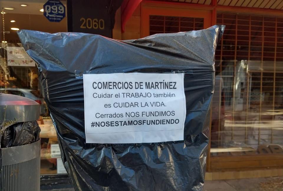 Comercios de Martinez reclaman por cierre por cuarentena