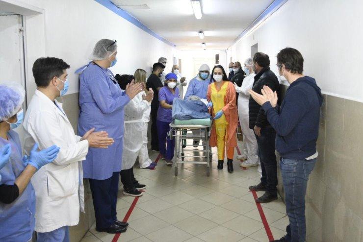 Paciente recuparado covid en Pilar
