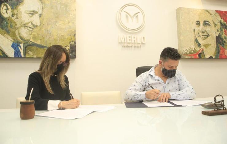 Malena Galmarini y Gustavo Menéndez convenio