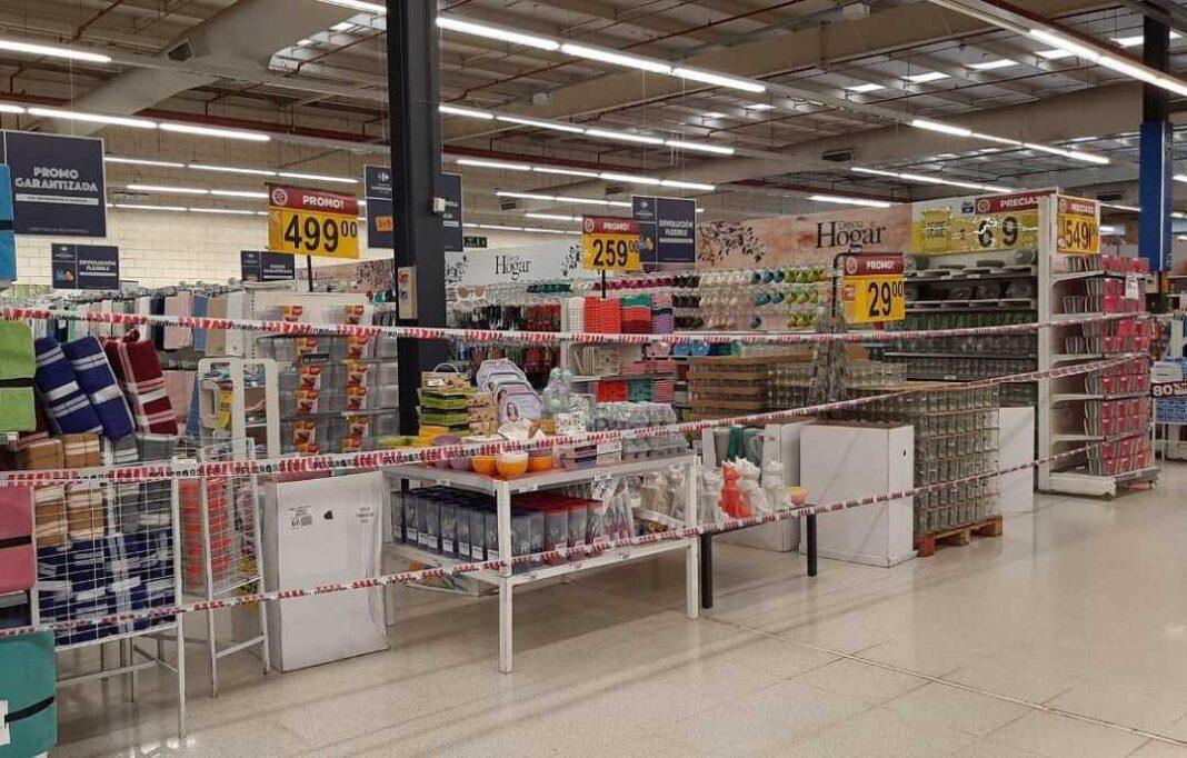 Cierre gondolas supermercados proteccion comercio barrial