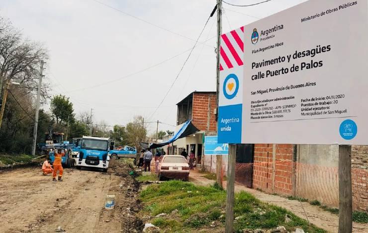 Obra pavimentación Puerto de Palos San Miguel