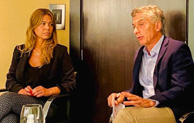 Andrea Giorgini junto a Mauricio Macri