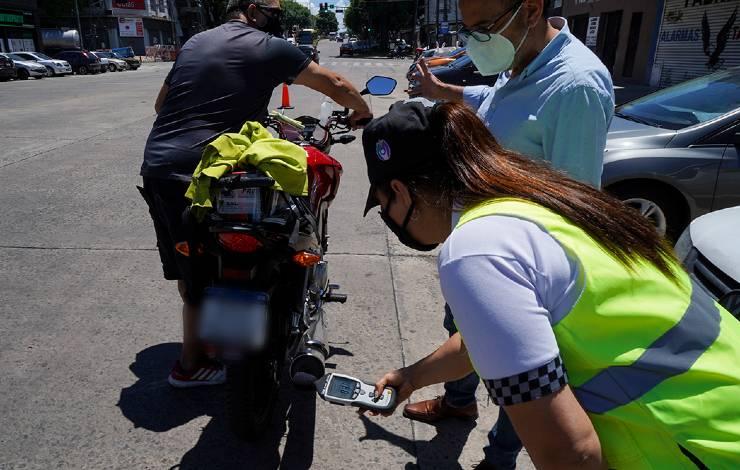 Control ruido de motos en Vicente López